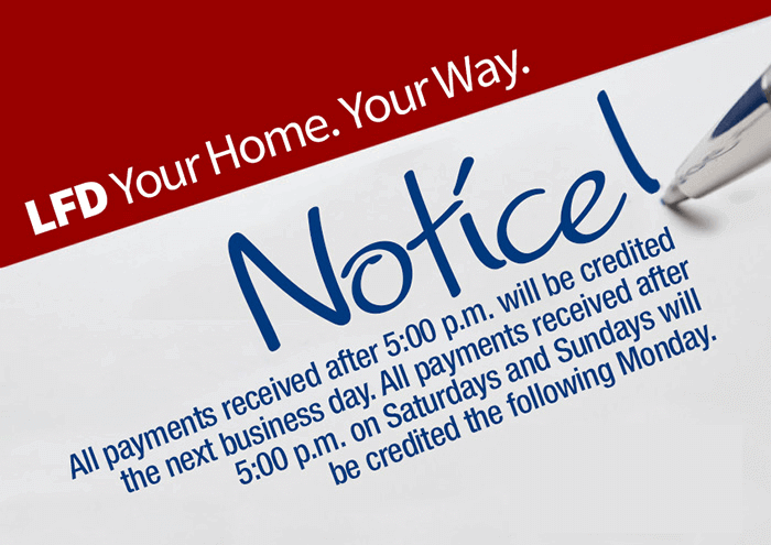 Payment Notice. Appliances  Furniture  Mattresses  and Electronics in Mc Allen